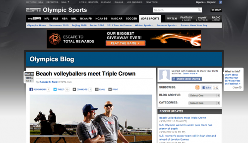 Beach volleyballers meet Triple Crown