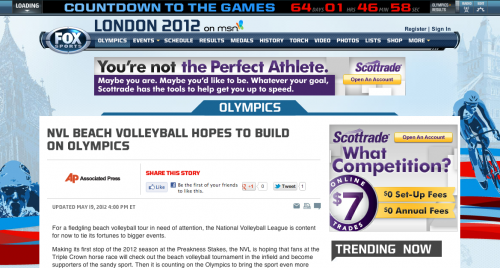 NVL Beach Volleyball Hopes to Build on London
