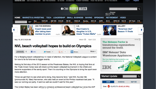 NVL beach volleyball hopes to build on Olympics