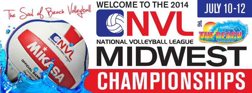 National Volleyball League to Host  Midwest Championships Pro Beach Tournament at The Beach Waterpark