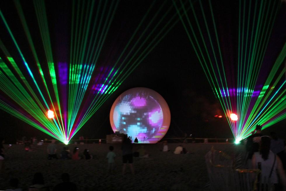 Ocean-City laser show