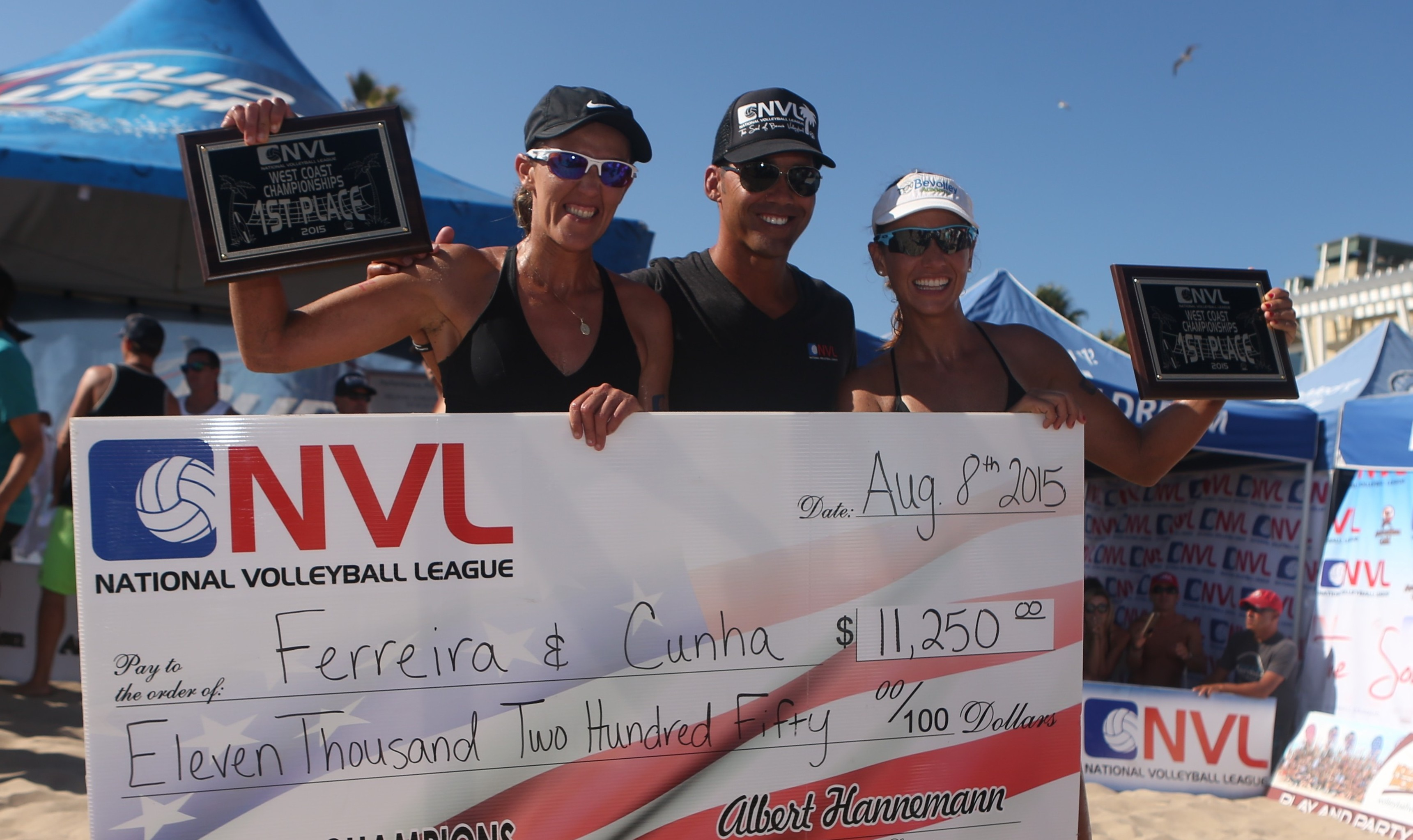 Three-Peat For Vivian Cunha & Raquel Goncalves Ferreira; Dave Palm & Eric Zaun Crowned Men's Winners At National Volleyball League West Coast Championships
