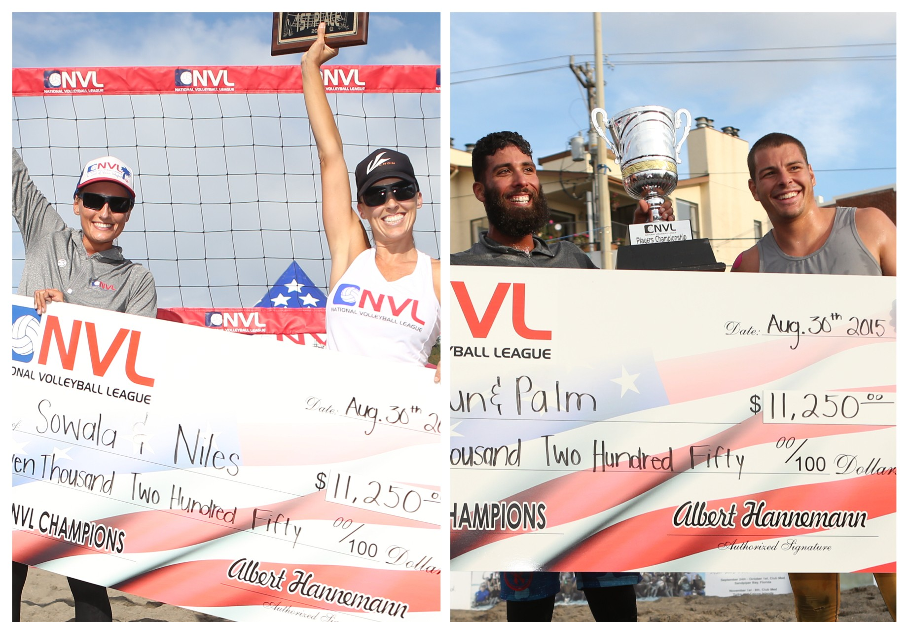 Back-to-Back Wins for Dave Palm & Eric Zaun; Second 2015 Season Title for Brooke Niles & Karolina Sowala at NVL Seattle Championships