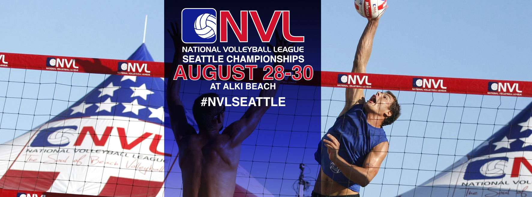 National Volleyball League Pros Compete for $75,000 at the Seattle Championships on August 28 – 30