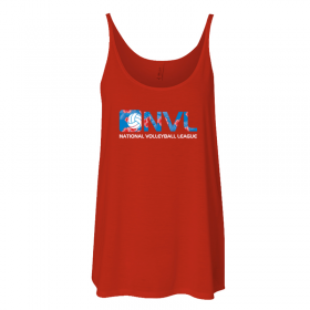 Ladies Flowy tank red